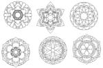 Laser Cut Vector mandala free DXF designs