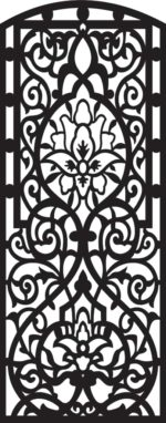 Free vector decorative designer panels DXF file