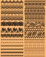 Set of Lace Vector pattern Borders Free Cdr File download