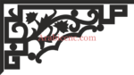 Decorative floral corner dxf File