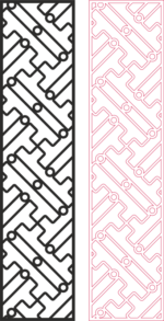 Partition Design pattern for laser cut wood dxf File