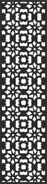 Flower Carving Pattern Free Vector