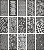 'Modern Room Dividers Patterns Free Vector'