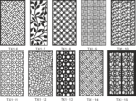 CNC Jali Cutting Pattern Collection CDR File
