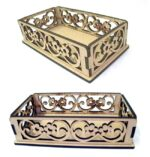 Laser Cut Decorative Wooden Basket Free DXF File
