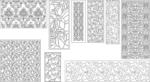 Decorative pattern file to cut in CNC CDR File