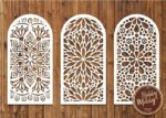 Laser Cut 3 Wedding Screen Vector File Free